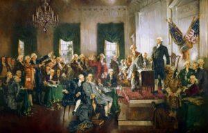 Америка подписывает конституцию
